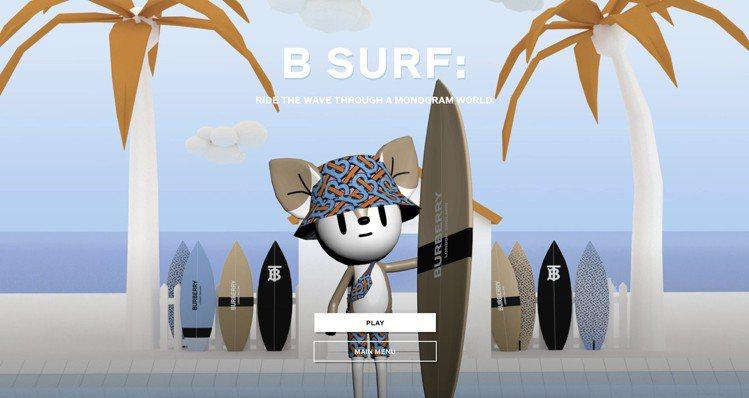 B SURF玩家可以選擇衝浪板,再與朋友一起在TB字型的賽道上競逐。圖/BURB...