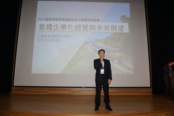 臺灣鐵路管理局局長張政源。 楊連基/攝影
