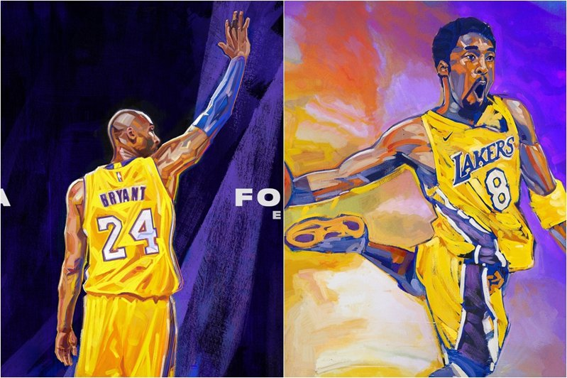 《NBA 2K21》今日(3日)公佈第三位封面人物,如同外界猜測,正是今年1月驟然離世的傳奇球星布萊恩,且用雙封面致敬。 截圖自NBA2K21推特