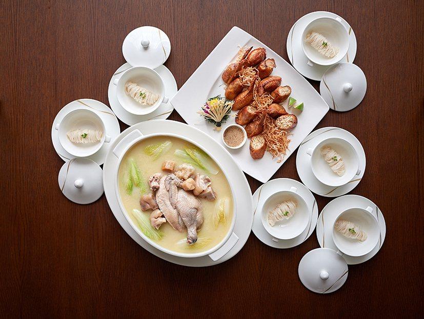 潮粵坊平日港式煲雞共享餐。業者/提供