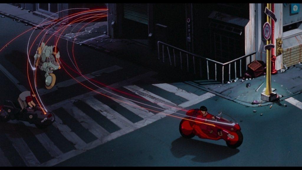 金田的紅色重型機車讓他嶄露頭角,因而成為團體中的領導者。 圖/garagepla...