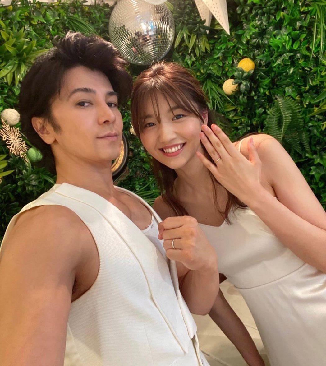 47歲武田真治娶小22歲女模靜麻。圖/擷自IG