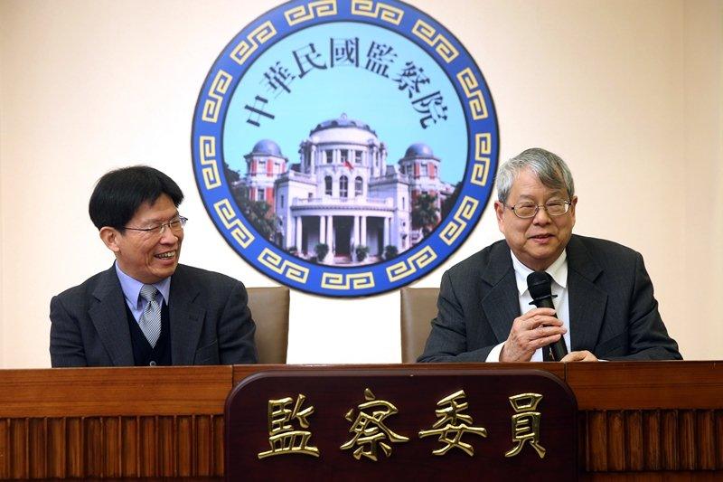 監察委員高涌誠(左)。 圖/聯合報系資料照