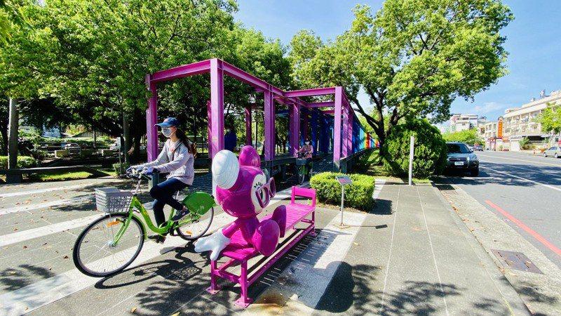 台南市新營區打造T-bike輕旅行。圖/新營區公所提供