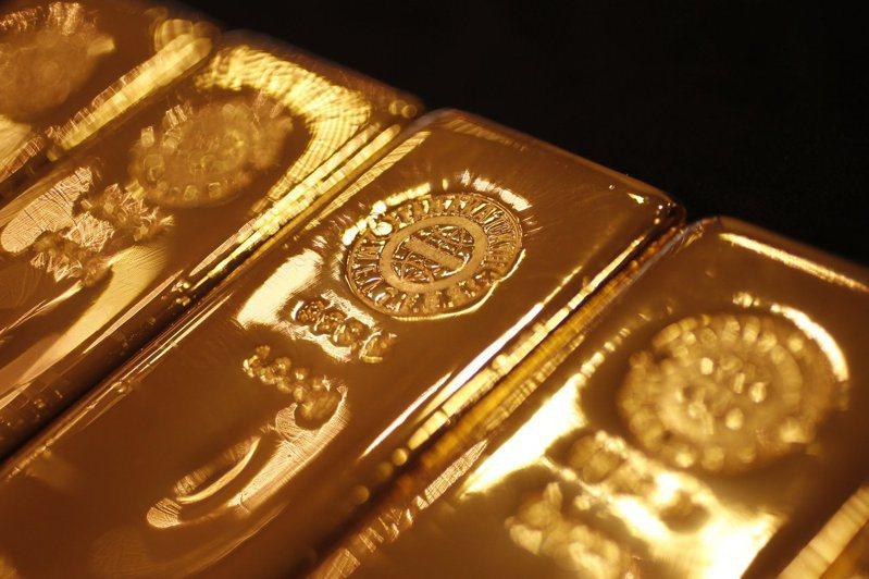 國際黃金上揚。路透