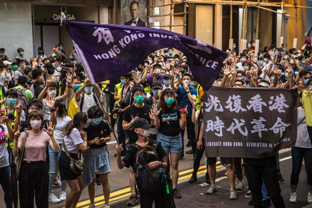 香港國安法上路。 法新社