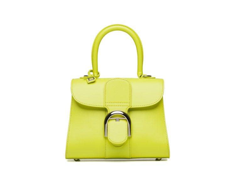 Brillant青檸綠牛皮小型肩背手提包,16萬3,900元。圖/DELVAUX...