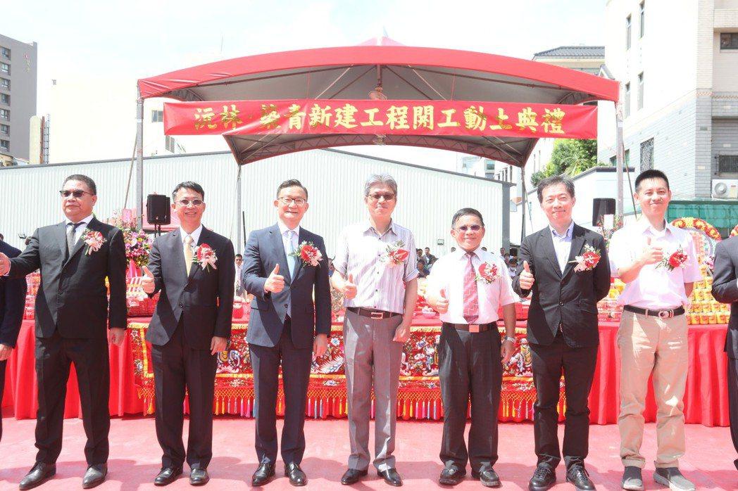 沅林營建機構在台中市大里核心商圈規劃的「沅林.築青」大樓預售案,今日舉行開工動土...