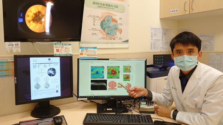 輔大附設醫院眼科主治醫師李加崴指出,透過眼底光學共軛斷層神經掃描及自動視野檢查儀...