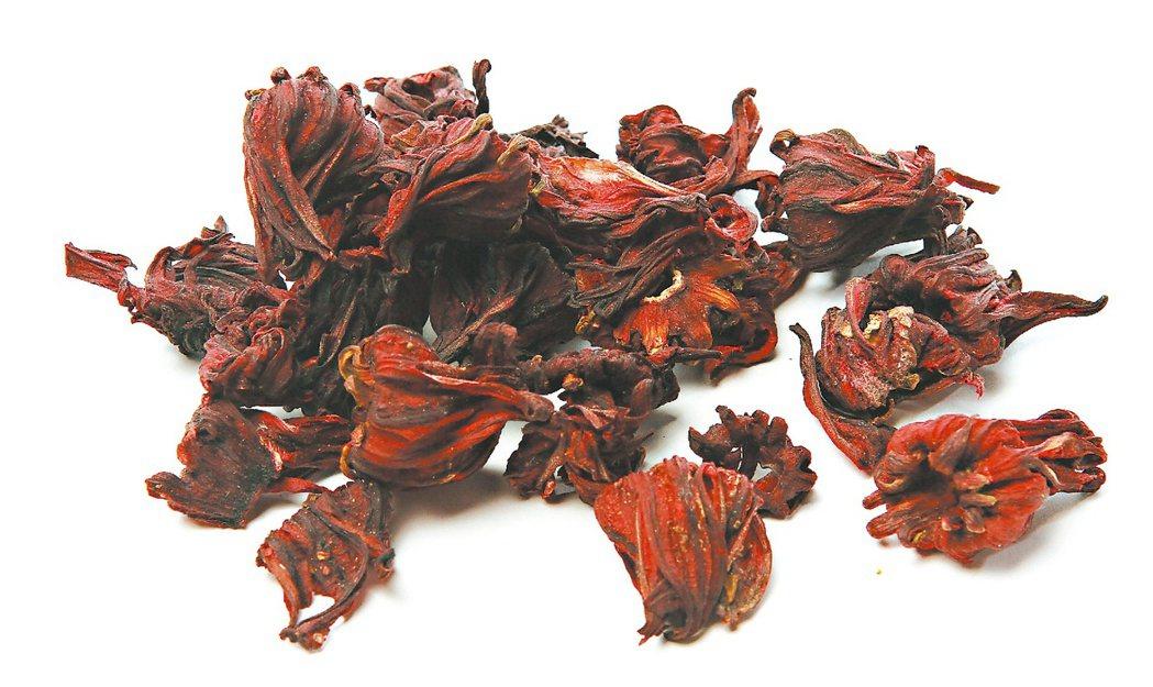 紅色的洛神花有降血脂功效。圖/陳立凱攝影