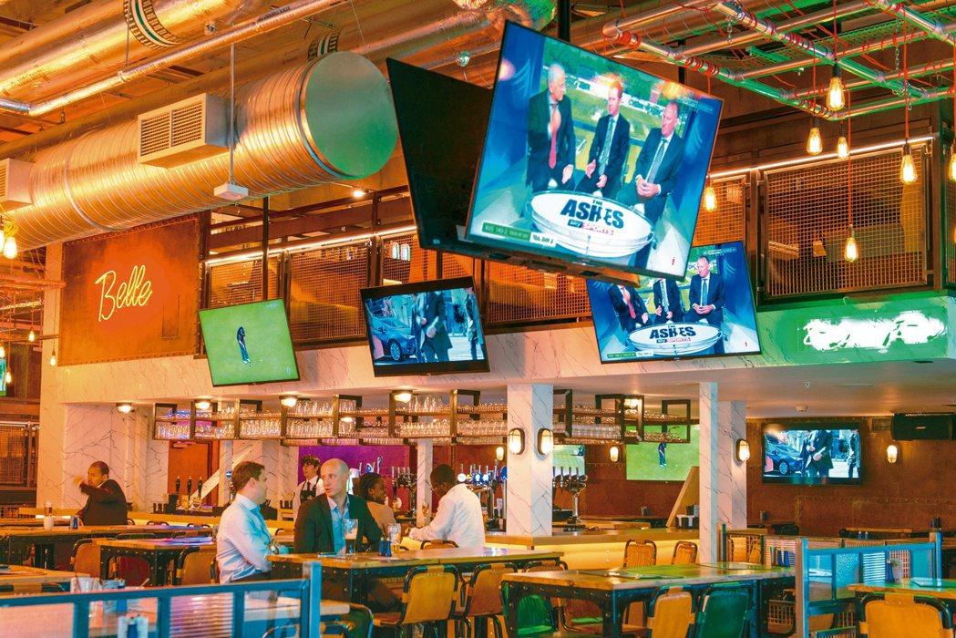 西柏產品應用於英國的餐廳內。 西柏/提供