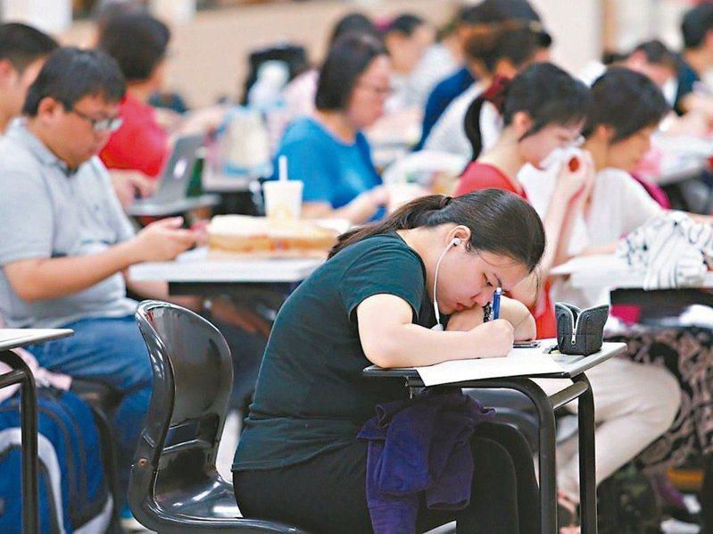 一○九年公務人員高考三級暨普通考試十七至廿一日舉行。 圖/聯合報系資料照片