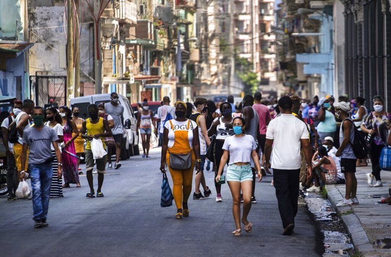 古巴衛生部今天公布新增93起病例,打破5月1日通報的74人染疫紀錄,創下單日確診人數新高。 圖/美聯社
