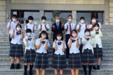 日本愛知高校對於泰北高中捐助口罩防疫,表達感謝。 校方/提供