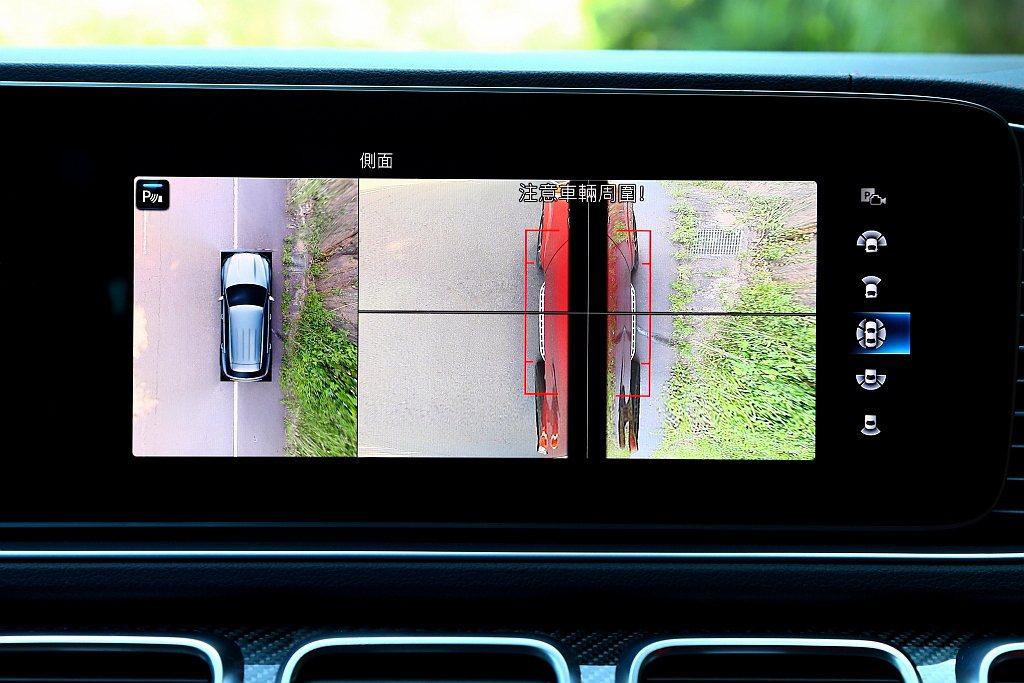 主動停車輔助附前/後雷達、後方橫向車流警示、起步限速輔助、360度環景攝影等,則...