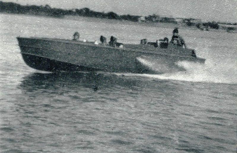 日軍震洋艇演訓狀況。圖/郭吉清提供