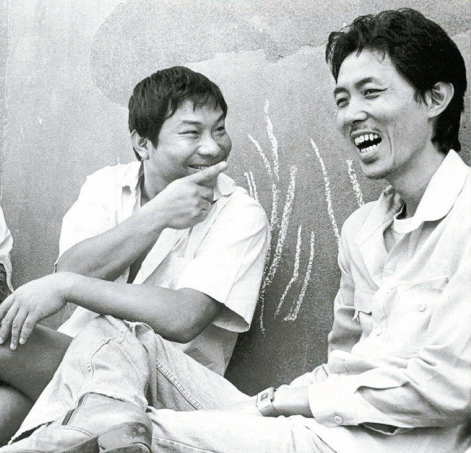 許不了(左)與朱延平曾一起合作多部賣座喜劇電影。圖/報系資料照片