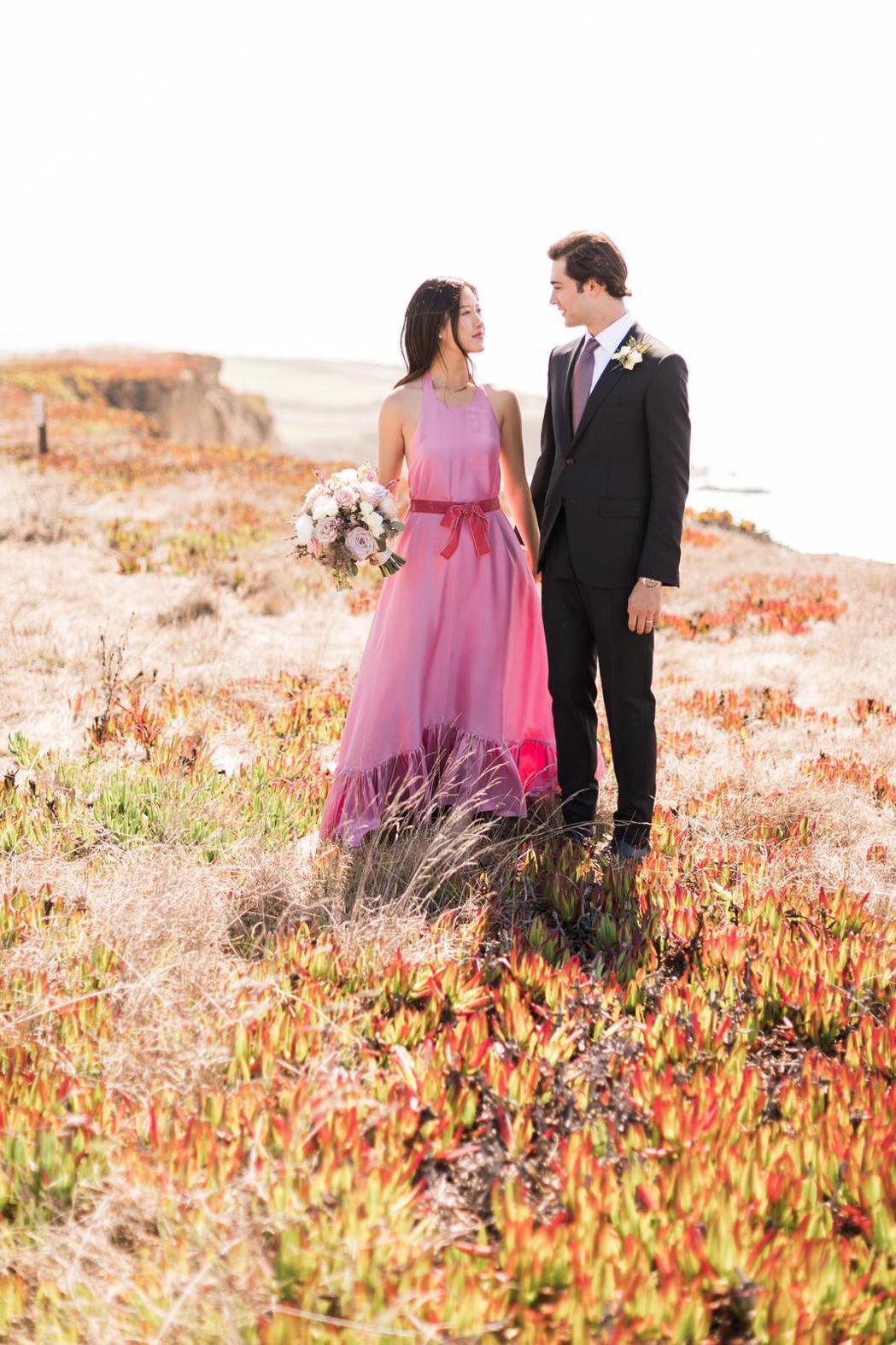 王羚在美國的婚禮簡單隆重。圖/王偉忠提供
