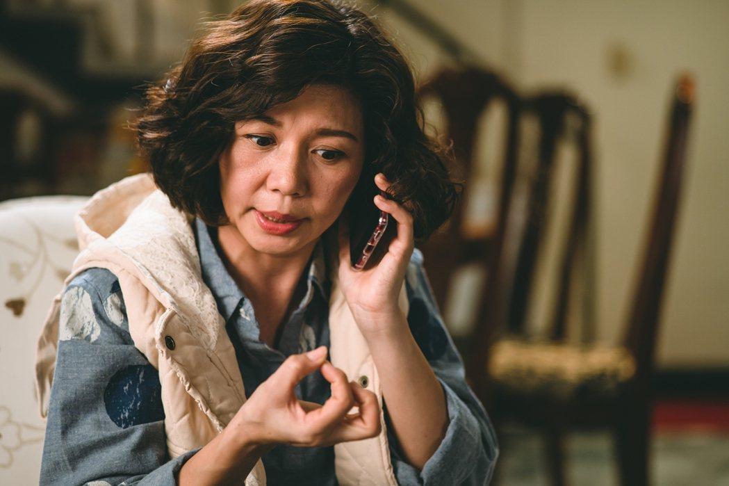 于子育在劇中飾演男主角的媽媽,為台語台詞NG高達20幾次。圖/華視提供