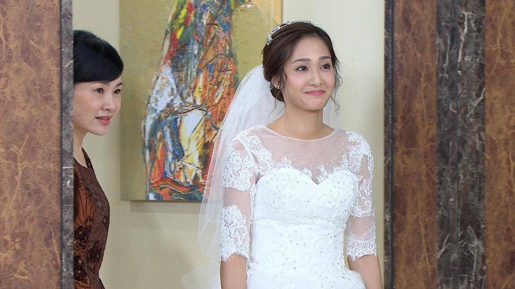 邱子芯在「多情城市」終於要出嫁。圖/民視提供