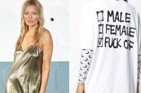 假的凱特摩絲有夠鬧!標語T恤搗蛋無極限