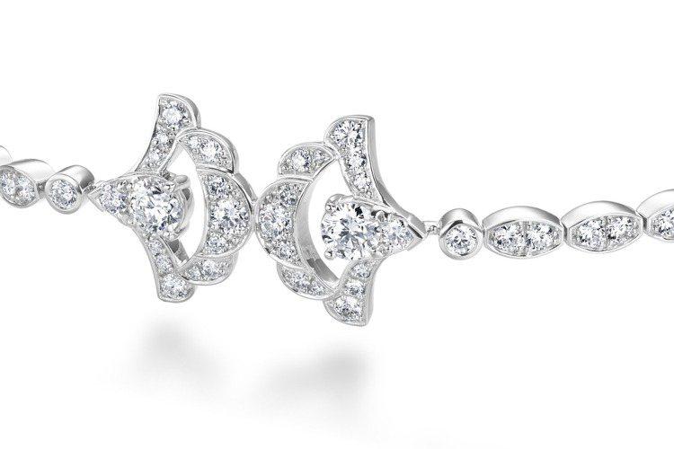 LORELEI REVERIE白K金鑽石手鍊,鑽石總重約2.8克拉,約36萬9,...