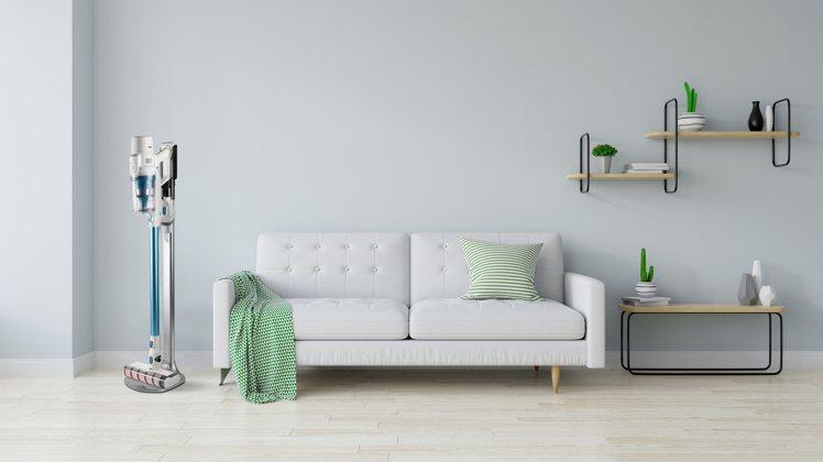 Switle V11智慧自動塵感無線吸塵器,可另加購直立式支架,節省收納空間為居...