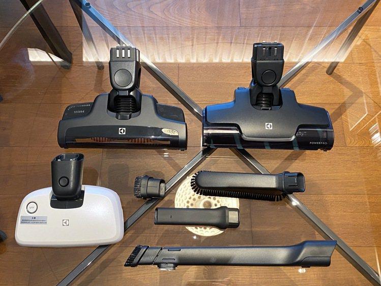 伊萊克斯PURE Q9-P雙效勁亮吸塵器升級雙主吸頭,另配有UV床墊電動吸頭、縫...