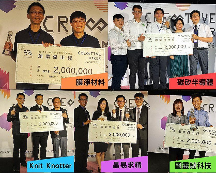 獲創業傑出獎業者代表。 竹科管理局/提供