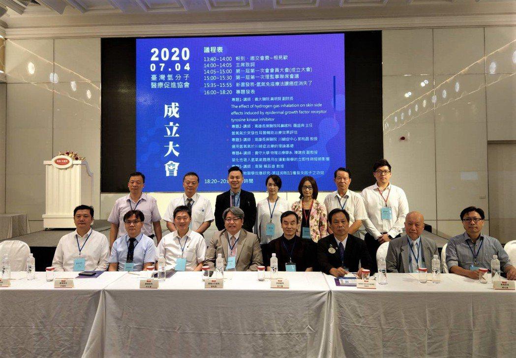 台灣氫分子醫療促進協會成員合照。協會/提供。