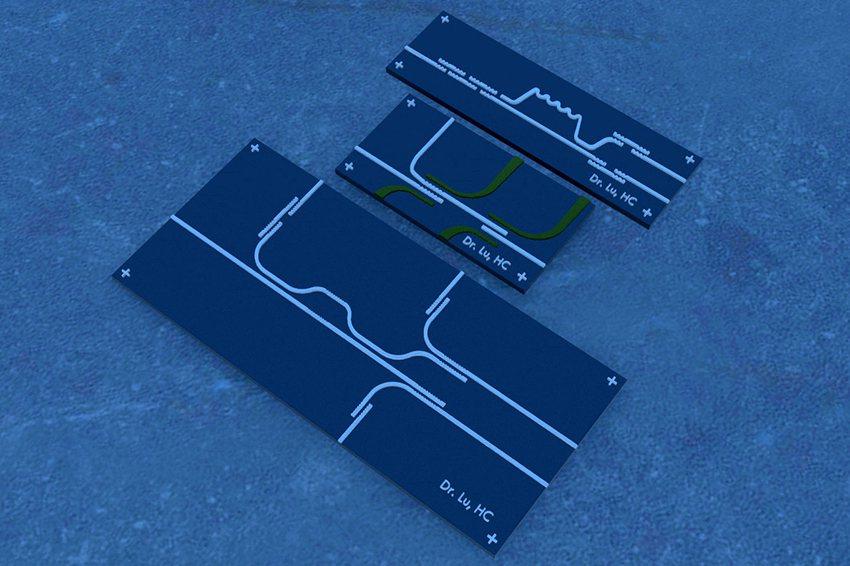 圖二、盧鴻智博士三篇光子積體電路的美國專利VR擬真圖。 盧博士虛擬實境設計工坊/...