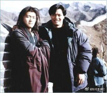 李健仁當年在周星馳「武狀元蘇乞兒」,被拉去客串醜女一角。 圖/擷自李健仁微博