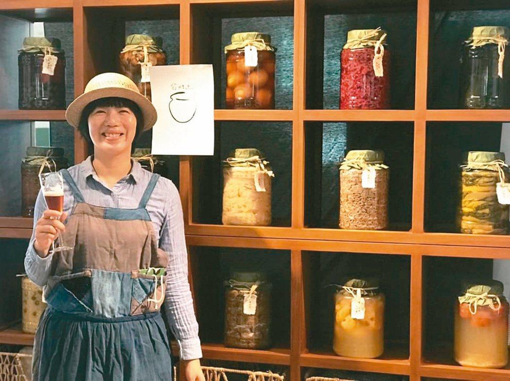發酵迷創辦人黃靖雅推廣發酵食物。 圖/發酵迷提供