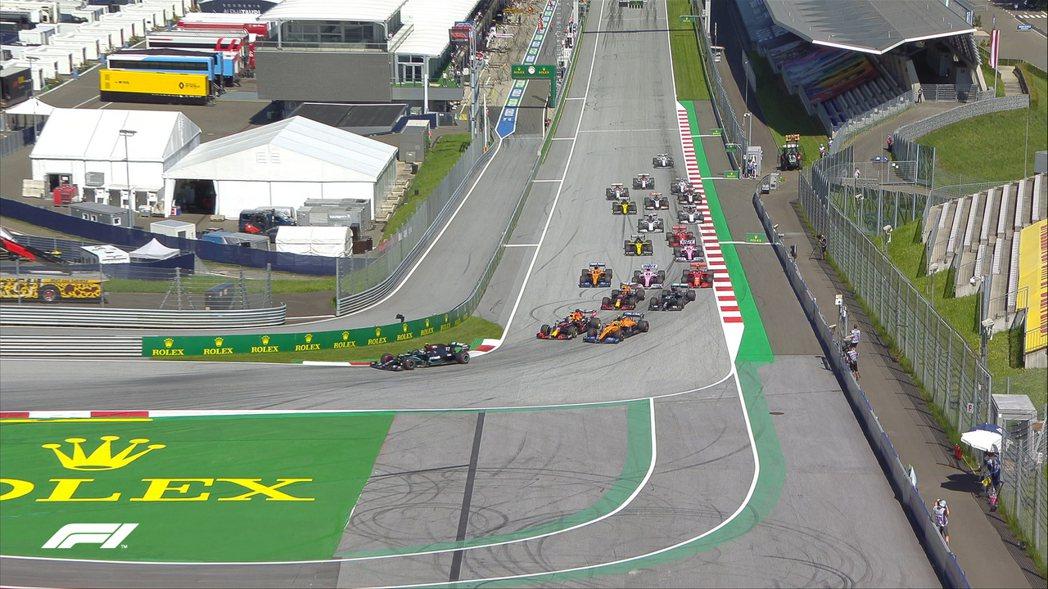 F1終於在奧地利開跑。 摘自F1