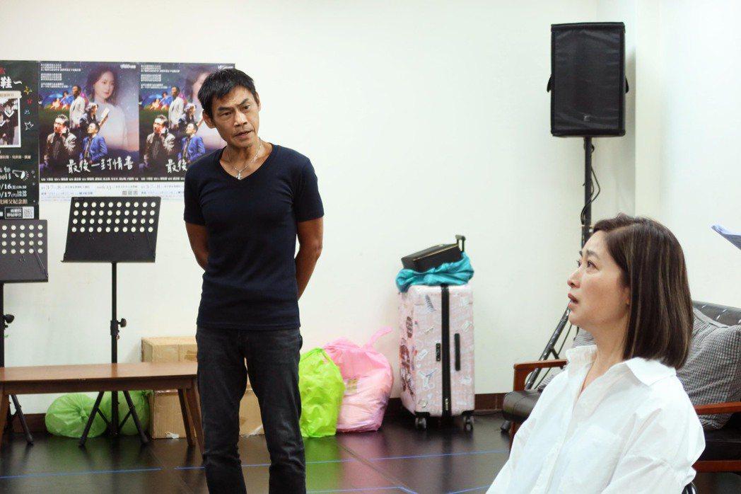 劉瑞琪(右)、夏靖庭合作「最後一封情書」。圖/全民大劇團提供