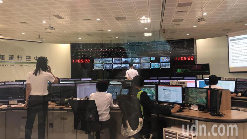 台中捷運綠線行控中心,剛完成穩定性測試。記者陳秋雲/攝影