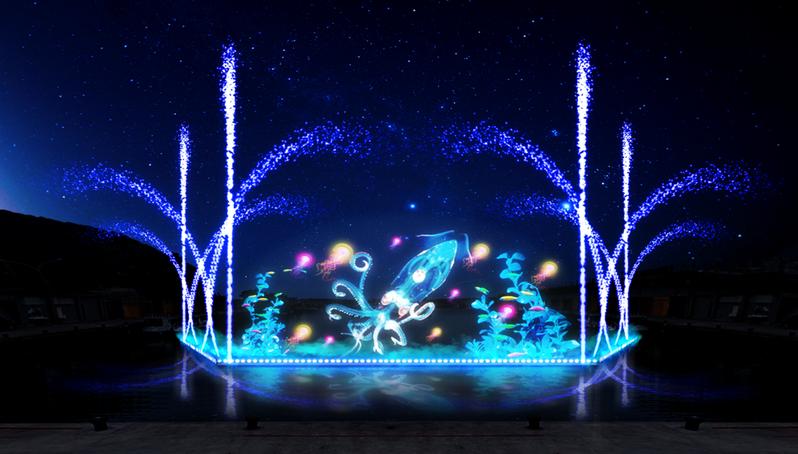 深澳漁港將舉辦以「小卷」為意象的光雕水舞秀。圖/新北市漁業處提供
