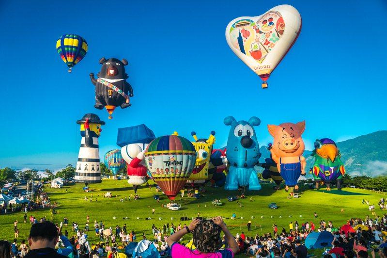台東國際熱氣球嘉年華即將於7月11日起,展開為期51天的活動,為維護活動期間環境清潔,入園區將收取清潔費。圖/台東縣政府提供