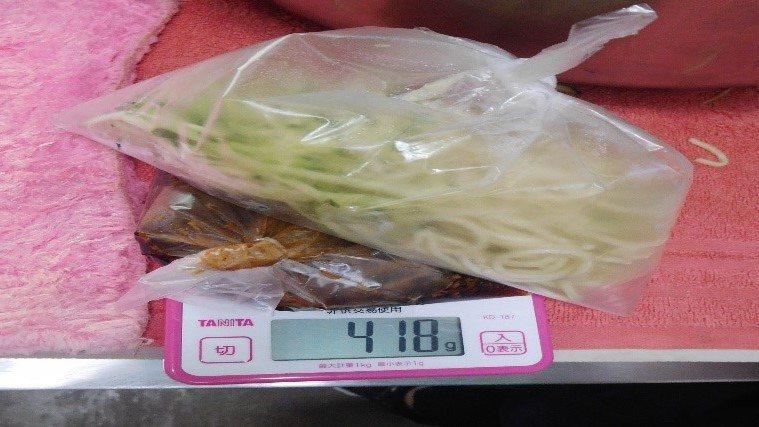 台北市衛生局在今年5月中旬,抽驗市面上的涼麵,有3件複驗不符標準,向3家業者各罰...