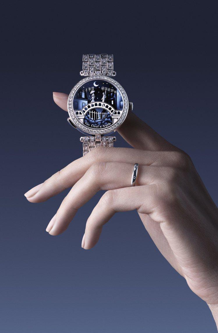 梵克雅寶戀人之橋腕表為品牌詩意時間的代表作。圖/梵克雅寶提供