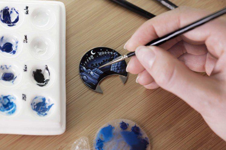 梵克雅寶琺琅表盤製作過程。圖/梵克雅寶提供
