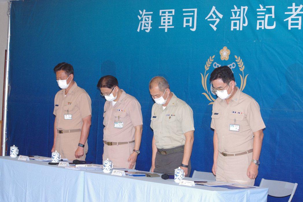 海軍下午舉行臨時記者會,說明海軍陸戰隊7月3日「聯合登陸作戰」操演意外事件初步調...
