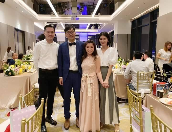張嘉郡和周柏吟低調結婚,兩人上周六在台北的酒店宴客。圖/擷自陳璧君網頁