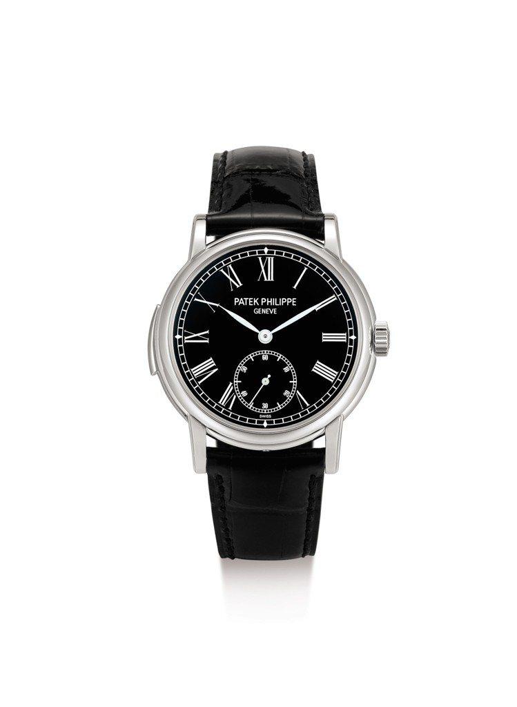 百達翡麗型號5078鉑金三問腕表,約2016年製,估價約160萬港元起。圖/蘇富...