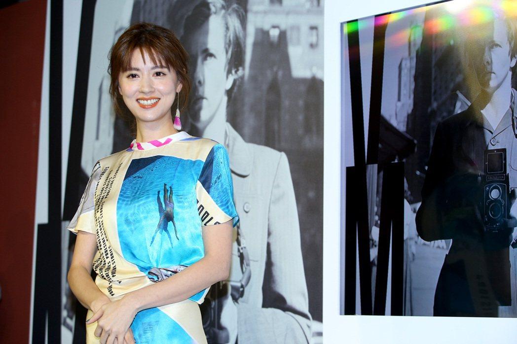 林予晞出席「V.M. 薇薇安・邁爾攝影展」記者會。記者余承翰/攝影