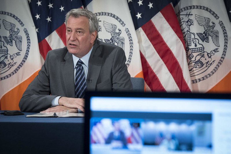 紐約市長白思豪預計第三階段將有超過5萬人將復工。(市長辦公室提供)