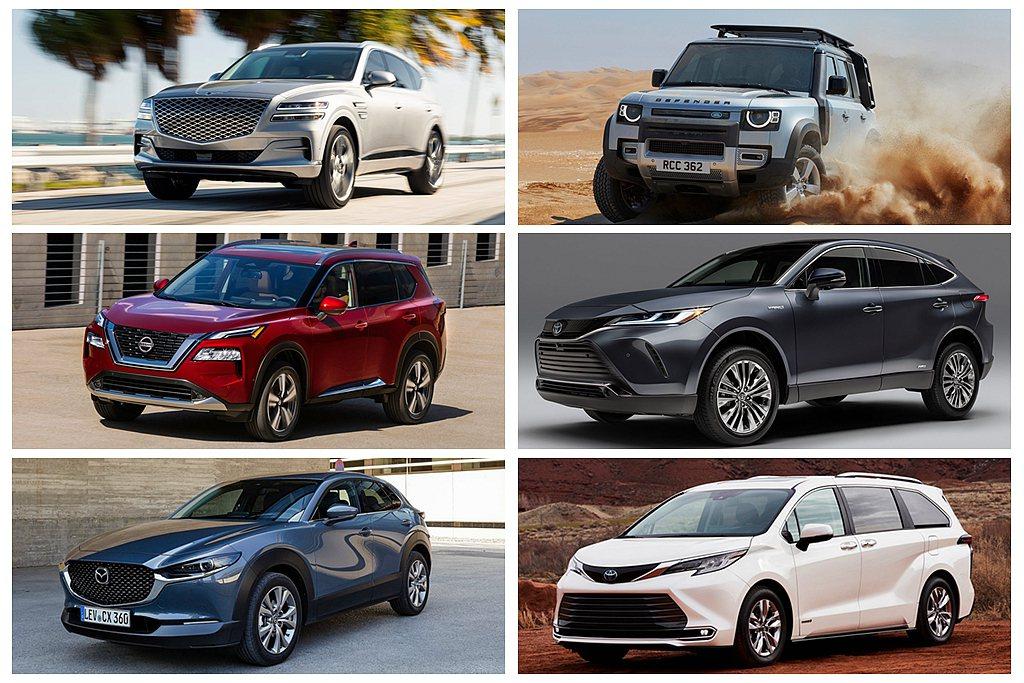 多用途車款獎項方面當然是休旅車佔多數,如Genesis GV80、Land Ro...