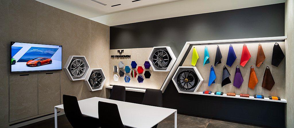 Lamborghini Ad Personam頂級客製化服務亦在全新的展示中心裡...