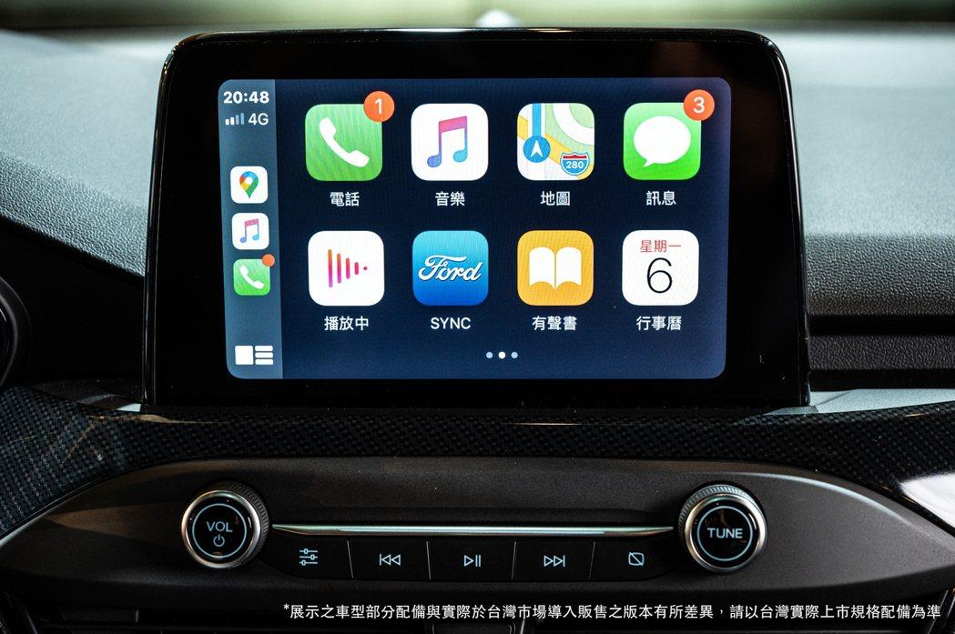 標配8吋懸浮式全彩LCD觸控螢幕,搭載SYNC3及原廠中文衛星導航系統,並提供A...