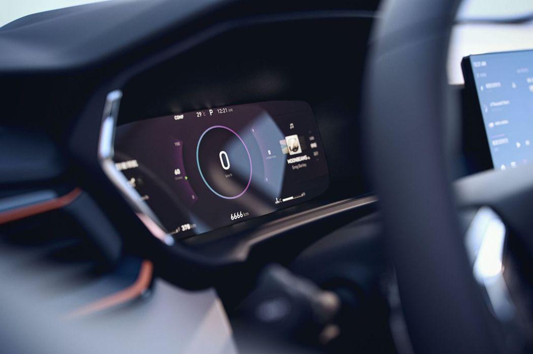 全新樣式的虛擬儀表板。 摘自Lynk&Co